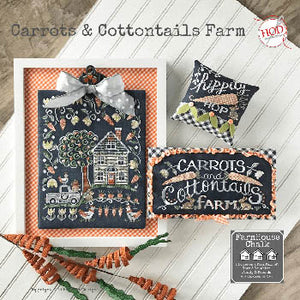 Carrots & Cottontails Farm Cross Stitch Pattern | Hands on Design - Blessed Backyard