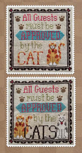 Cat Owner's Welcome Cross Stitch Pattern | Waxing Moon Designs - Blessed Backyard