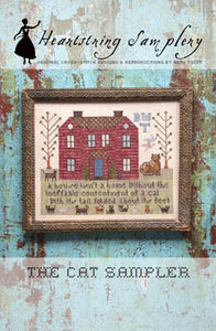 The Cat Sampler Cross Stitch Pattern | Heartstring Samplery - Blessed Backyard