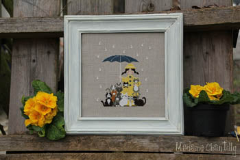 Cats in the Rain Cross Stitch Pattern | Madame Chantilly - Blessed Backyard