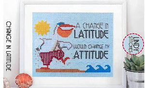 Change in Latitude Cross Stitch Pattern | Lindy Stitches - Blessed Backyard