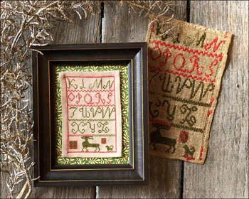 Christmas Reindeer Sampler Cross Stitch Pattern | Kathy Barrick - Blessed Backyard