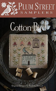 Cotton Bird Cross Stitch Pattern | Plum Street Samplers - Blessed Backyard
