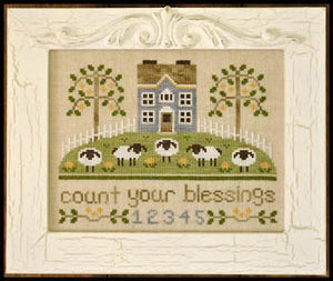 Count Your Blessings Cross Stitch Pattern | Country Cottage Needleworks - Blessed Backyard