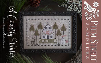 A Country Winter Cross Stitch Pattern | Plum Street Samplers - Blessed Backyard