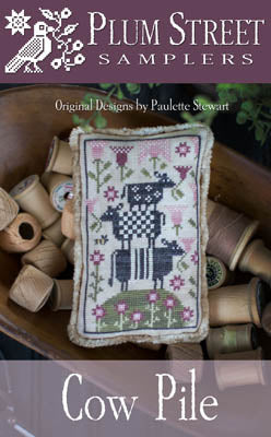 Cow Pile Cross Stitch Pattern | Plum Street Samplers - Blessed Backyard