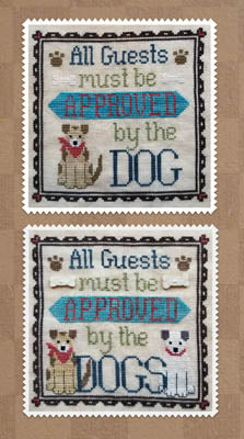 Dog Owner's Welcome Cross Stitch Pattern | Waxing Moon Designs - Blessed Backyard