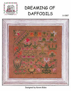 Dreaming of Daffodils Cross Stitch Pattern | Rosewood Manor - Blessed Backyard
