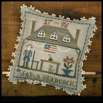 Early Americans No. 2 - John Hancock | Little House Needleworks - Blessed Backyard
