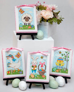 Easter Cuties Cross Stitch Pattern | Tiny Modernist - Blessed Backyard