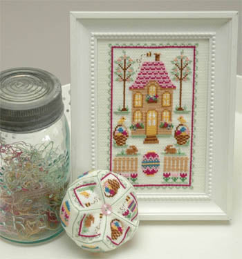 Easter House Cross Stitch Pattern | Tiny Modernist - Blessed Backyard