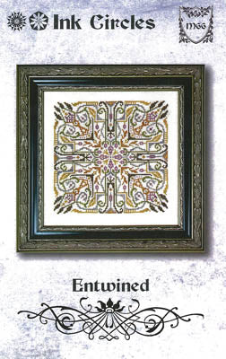 Entwined Cross Stitch Pattern | Ink Circles - Blessed Backyard