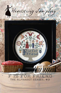"""F"" is for Friend Cross Stitch Pattern 
