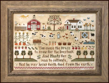 Farm Life Cross Stitch Pattern | Little House Needleworks - Blessed Backyard