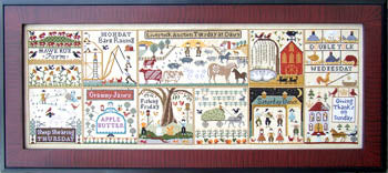 Farms of Hawk Run Hollow Cross Stitch Pattern | Carriage House Samplings - Blessed Backyard