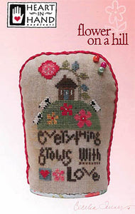 Flower on a Hill Cross Stitch Pattern | Heart in Hand - Blessed Backyard