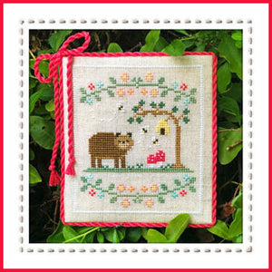 Welcome to the Forest 7 - Forest Bear Cross Stitch Pattern - Blessed Backyard
