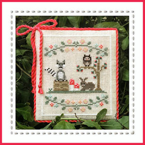 Welcome to the Forest 3 - Forest Raccoon and Friends Cross Stitch Pattern - Blessed Backyard