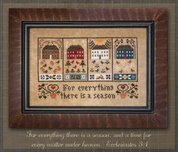 Four Seasons Cross Stitch Pattern | Little House Needleworks - Blessed Backyard