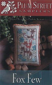 Fox Few Cross Stitch Pattern | Plum Street Samplers - Blessed Backyard