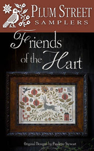 Friends of the Hart Cross Stitch Pattern | Plum Street Samplers - Blessed Backyard