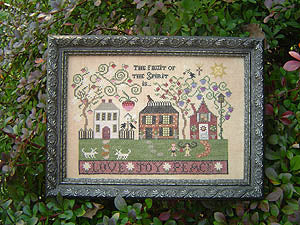 Fruit of the Spirit Cross Stitch Patterns | Plum Street Samplers - Blessed Backyard