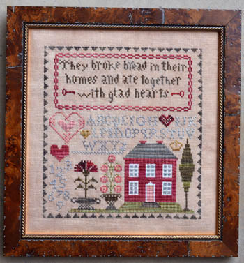 Glad Hearts Cross Stitch Pattern | Abby Rose Designs - Blessed Backyard