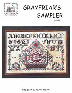Grayfriar's Sampler Cross Stitch Pattern | Rosewood Manor - Blessed Backyard