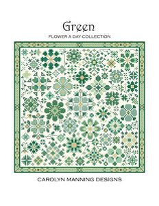 Green-Flower a Day Cross Stitch Pattern | Carolyn Manning Designs - Blessed Backyard