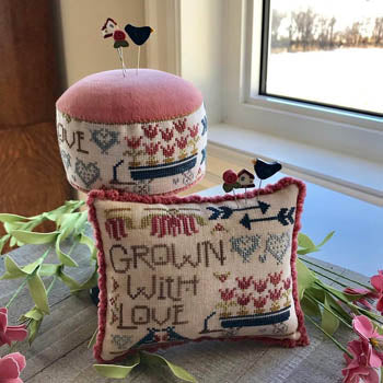 Grown with Love Cross Stitch Pattern | Hands on Design - Blessed Backyard