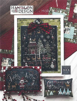 Holly Jolly Farm Cross Stitch Pattern | Hands on Design - Blessed Backyard