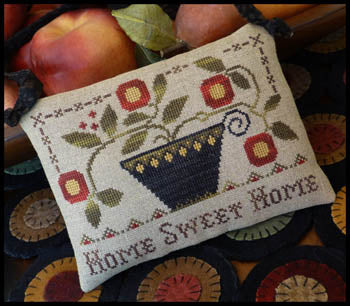 Home Sweet Home Cross Stitch Pattern | Little House Needleworks - Blessed Backyard