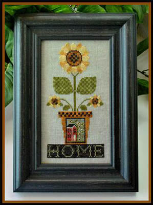 Home is Where the Sunflowers Grow Cross Stitch Pattern - Blessed Backyard