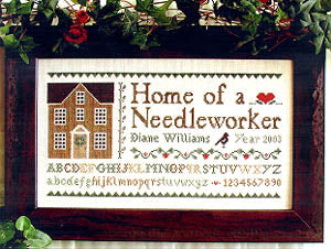 Home of a Needleworker Cross Stitch Pattern | Little House Needleworks - Blessed Backyard