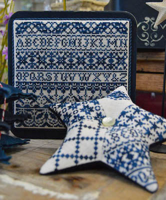 Indigo Start Cross Stitch Pattern | Hands on Design - Blessed Backyard