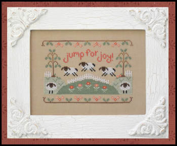 Jump for Joy Cross Stitch Pattern | Country Cottage Needleworks - Blessed Backyard