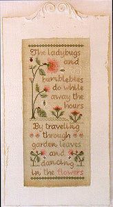 Ladybugs & Bumblebees Cross Stitch Pattern | County Cottage Needleworks - Blessed Backyard