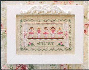 Little Ballerinas Cross Stitch Pattern | Country Cottage Needleworks - Blessed Backyard
