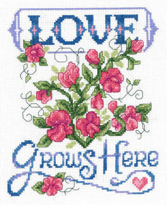 Love Grows Here Cross Stitch Pattern | Imaginating - Blessed Backyard