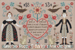 Love Never Fails Cross Stitch Pattern | Barbara Ana Designs - Blessed Backyard