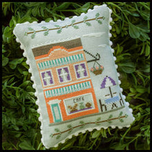 Main Street Cafe Cross Stitch Pattern | Country Cottage Needleworks - Blessed Backyard