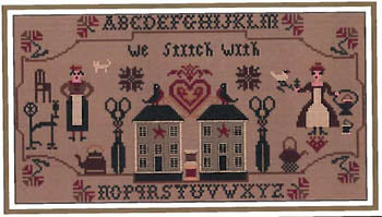 Message From Stitchers' Cross Stitch Pattern | Twin Peak Primitives - Blessed Backyard