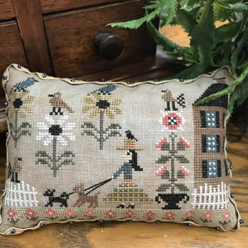 Morning Walk Cross Stitch Pattern | The Scarlett House - Blessed Backyard