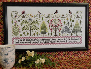 Music Amongst the Trees Cross Stitch Pattern | Rosewood Manor - Blessed Backyard