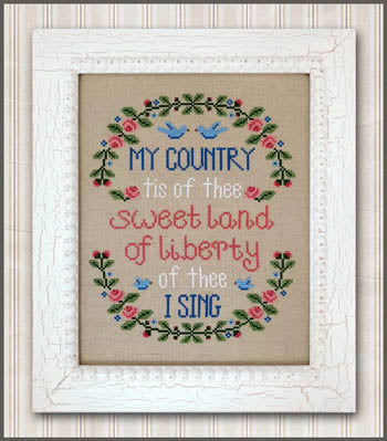 My Country Cross Stitch Pattern | Country Cottage Needleworks - Blessed Backyard