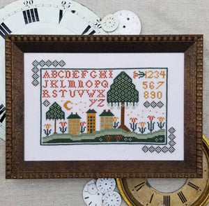 Night Time in Old Town Cross Stitch Pattern | Hello from Liz Mathews - Blessed Backyard