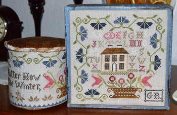 No Matter How Hard the Winter Cross Stitch Pattern | Abby Rose Designs - Blessed Backyard