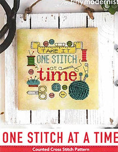 One Stitch at a Time Cross Stitch Pattern | Tiny Modernist - Blessed Backyard