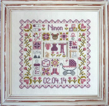 Patchwork Baby Cross Stitch Pattern | Jardin Prive - Blessed Backyard