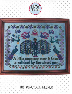 Peacock Keeper Cross Stitch Pattern | Lindy Stitches - Blessed Backyard